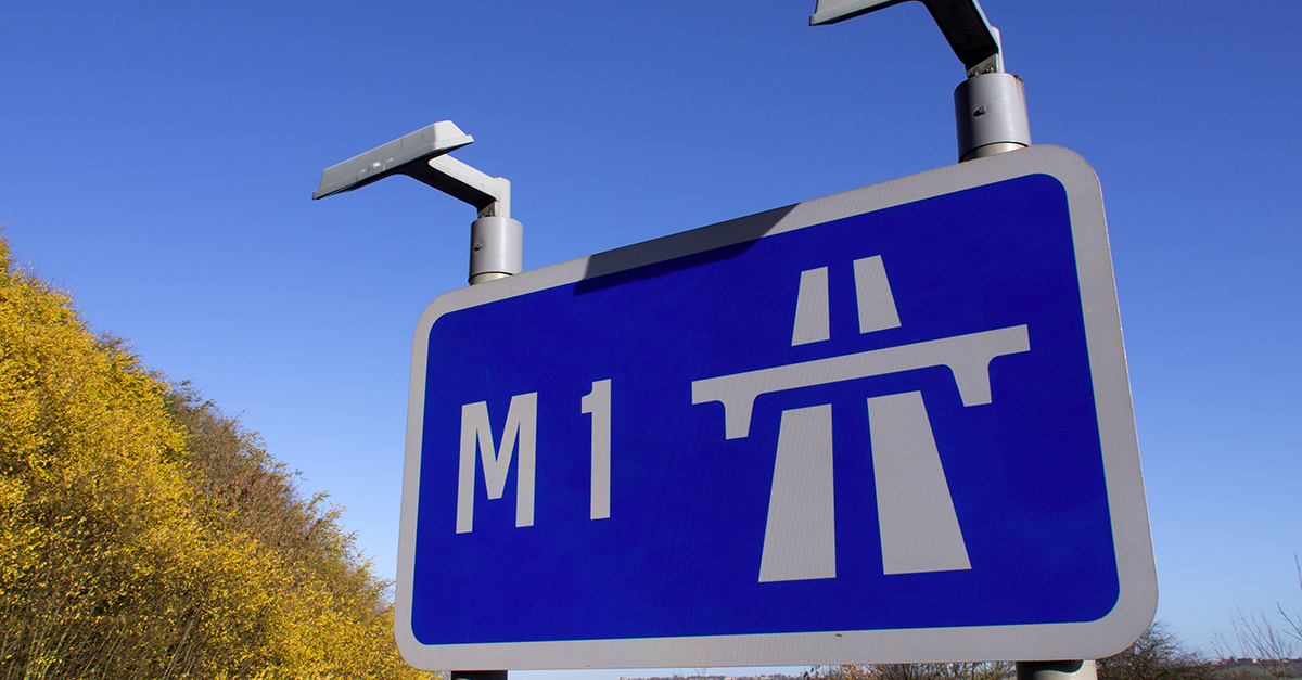 M1 sign on a sunny day