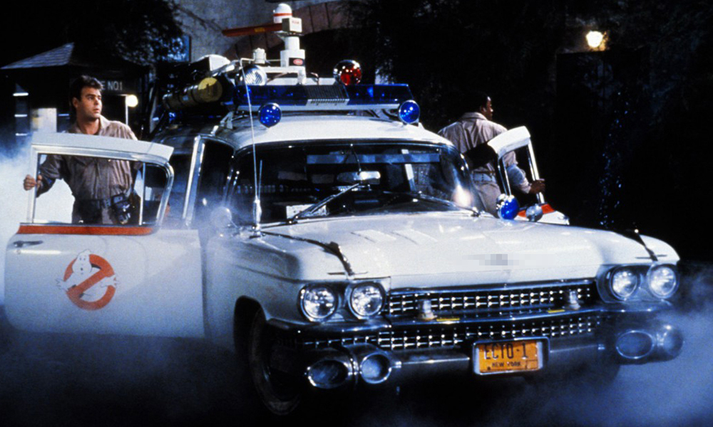 The original Ecto-1 from Ghostbusters, 1959 Cadillac Ambulance