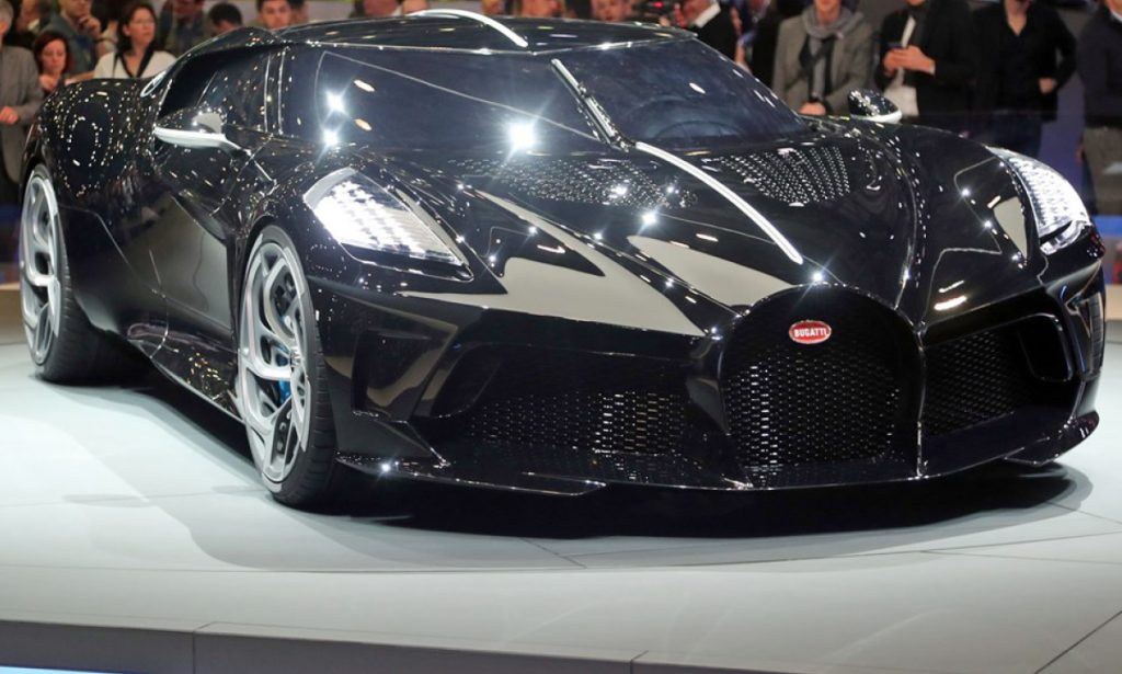 The Bugatti Voiture Noire on display at the 2019 Geneva Motor Show