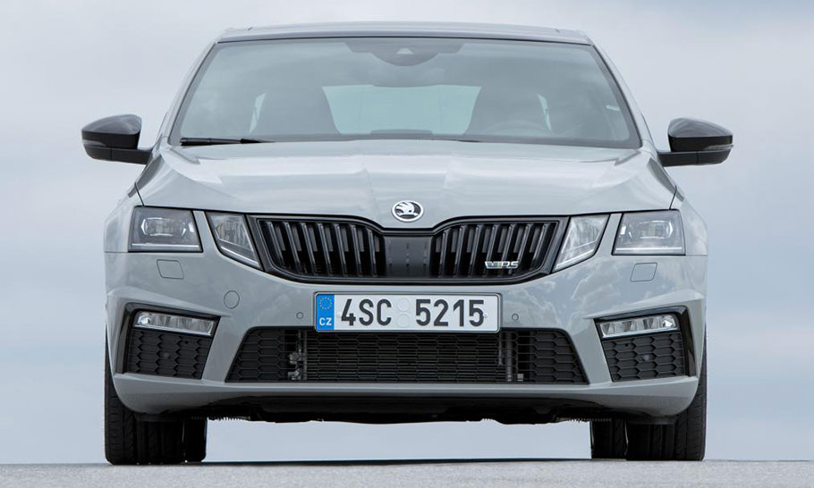 Grey Skoda Octavia vRS stationary